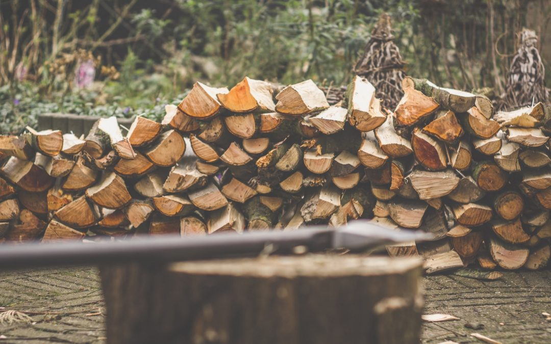 En flishugger fjerner nemt de store træstubbe